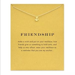 Jewelry - GOLD DIPPED ANCHOR FRIENDSHIP MINIMALIST NECKLACE